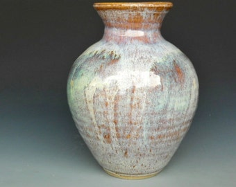 Flower Vase Speckled Stone and Green A