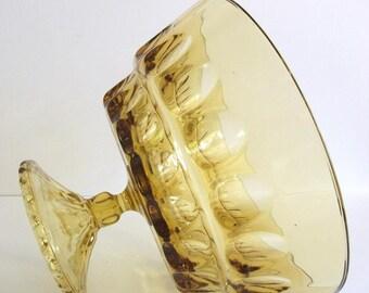 Vintage Gold  Pedestal  Bowl