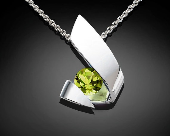 Contemporary Peridot Necklace