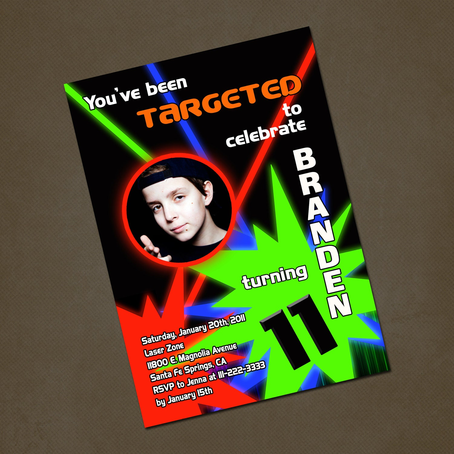 Laser Tag Party Invitations for perfect invitation example