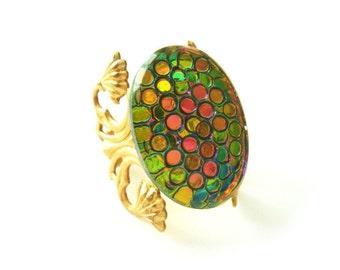 The Marie Antoinette Ring No 4 Shimmering Polka Dot Statement Ring