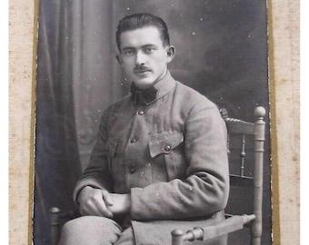 French Antique Photograph - Soldier (L. Hattiger, Belfort, France)