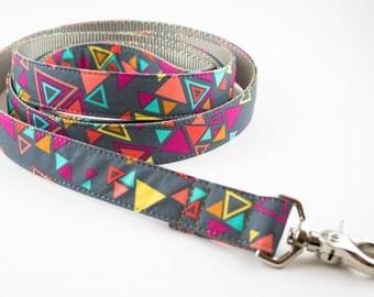 Neon Triangles Dog Leash