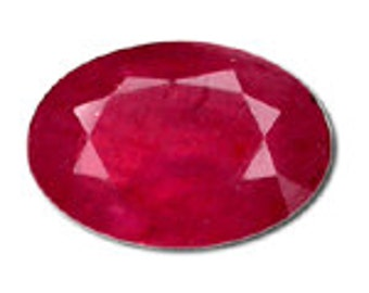 3 Carat Oval Raspberry Red Ruby in AA Grade