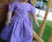 18 inch doll country chic purple dress