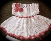 Antique Doily Dress Newborn Thread Crochet Pattern