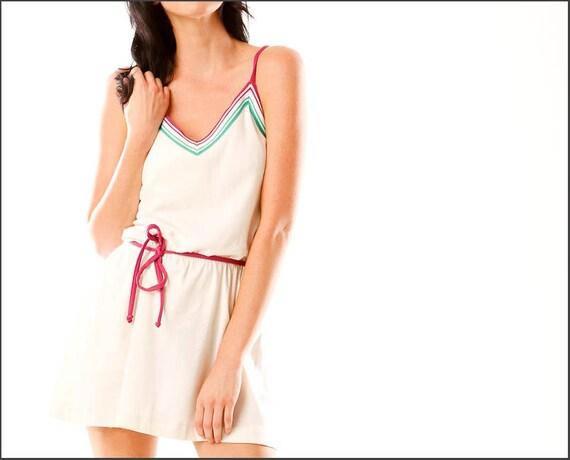 NOS/NWT Retro 1970's Jewel Tone Tennis Dress--M