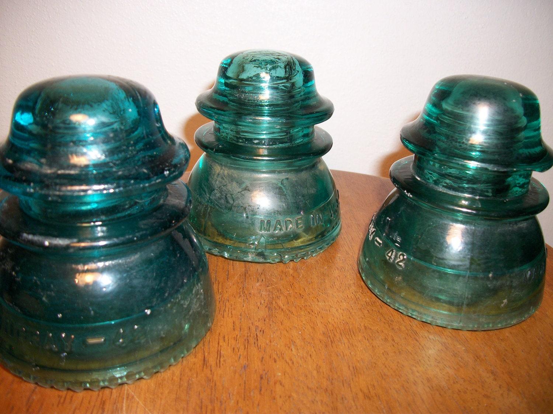 vintage insulators green hemingway 42