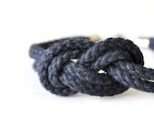 Double 8 Infinity Knot Bracelet - Navy Blue