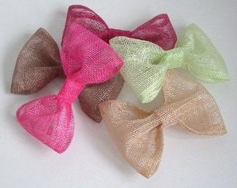 Lot of 5 Medium Sinamay Bow - Assorted Colours
