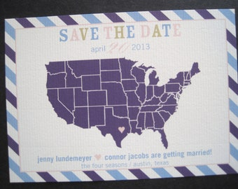 Map Save the Date-Printable