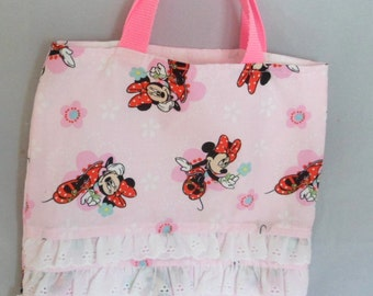 Pink Book Bag Girls Book Bag Ballet Shoe Bag Doll Bag Sac for Girls