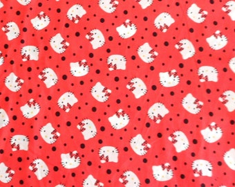Hello Kitty Fabric , Cotton Fabric , Springs
