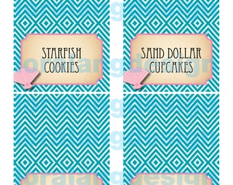 DIY Printable Vintage Mermaid Food Labels
