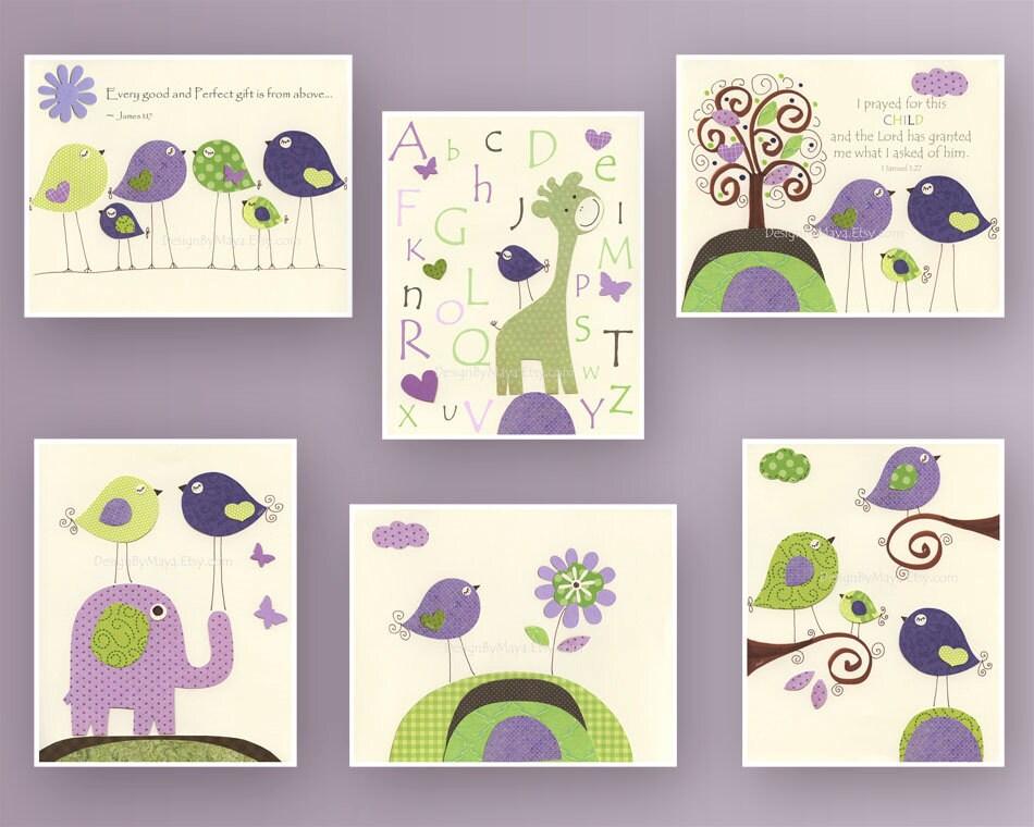 Popular items for lavender nursery art on Etsy