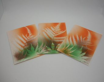 Thanksgiving cards, set of three, original, Fall colors handmade