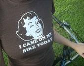 """Bike Shirt """"I Came on my Bike Today"""" Feminist T Shirt Womens Medium"""