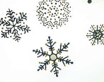 Snowflakes window clings sun catcher