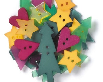 Christmas Past Shaped Buttons by Doodlebug Design Inc
