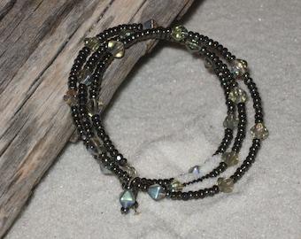 SALE!!!  Golden Bronze Memory Wire Coil Bracelet