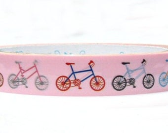 Colorful bicycle Deco Tape adhesive Stickers in pink decor DT312