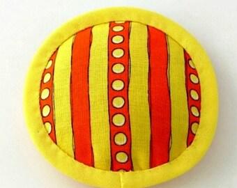 Catnip Toy, Catnip Toys, Canary Yellow Cat Toy, Orange Stripe Cat Pillow, Modern Cat Toys, Spots and Stripes Cat Toy  STRIPEY YELLOW ORANGE