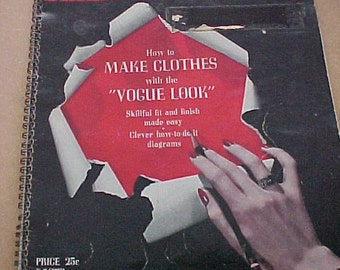Vintage 1942 Vogue Sewing Book High Fashion Techniques