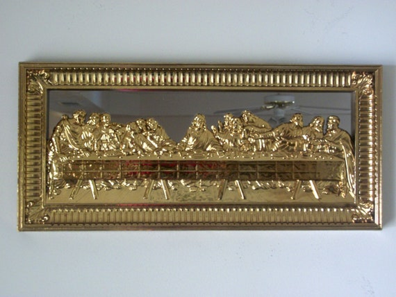 The Last Supper 3d Picture Framed Homco Mirror By