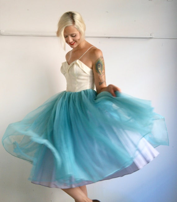 1950s Dress // Cloud Nine Party Dress // Xsmall