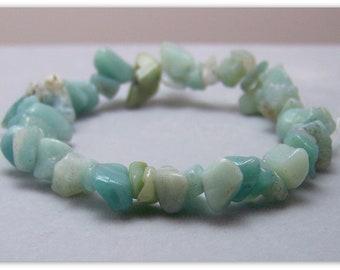 Stretch Bracelet - Gemstone Bracelet - Amazonite Bracelet, Bead Bracelet, Gemstone Jewelry