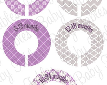 Closet Dividers Clothing Dividers Closet Organizers Baby Girl Nursery Closet Organizer - Assembled, ready to hang