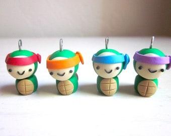 Polymer Clay Teenage Mutant Ninja Turtle Charm- Leonardo, Raphael, Donatello, Michelangelo
