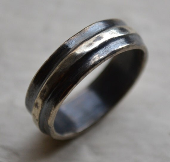 unisex wedding ring handmade artisan designed by maggidesigns With artisan wedding ring