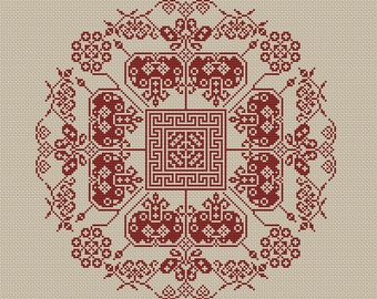 Instant Download,Free shipping,Cross stitch pattern, Cross-Stitch PDF, vintage chinese folk,chinese wedding  pattern design ,zxxc0314