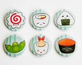 Sushi Button (set of 6)