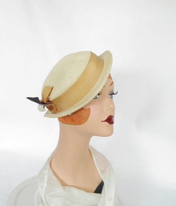 Reserved for S. 1940s tilt slouch hat, natural straw