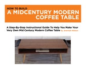 Mid Century Modern Coffee Table Download Plans diy woodworking pattern