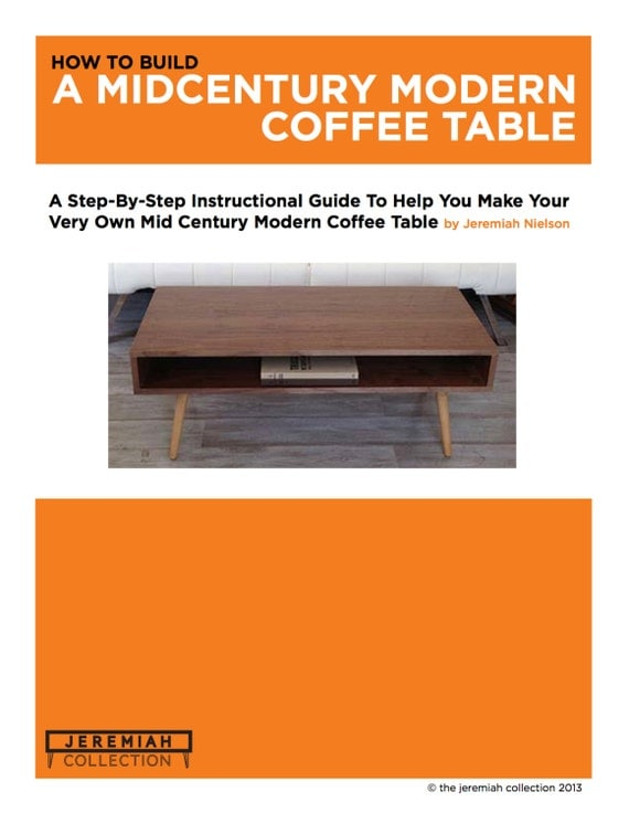 Woodworking plans furniture plans mid century coffee table for Build your own coffee table kit
