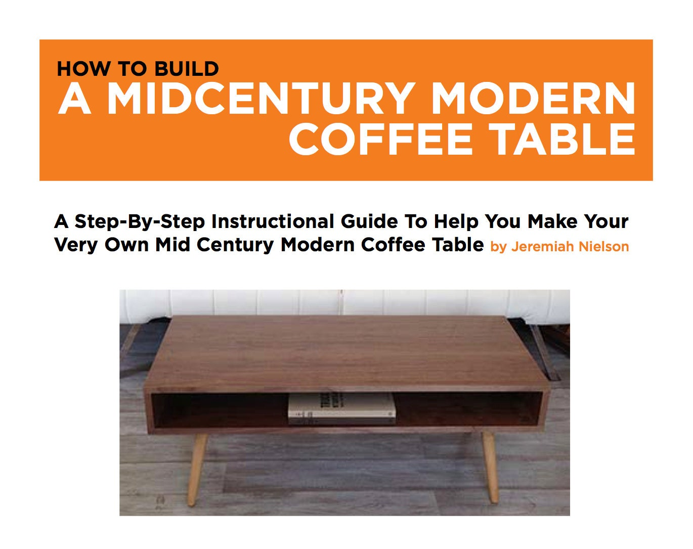 mid century modern coffee table plans