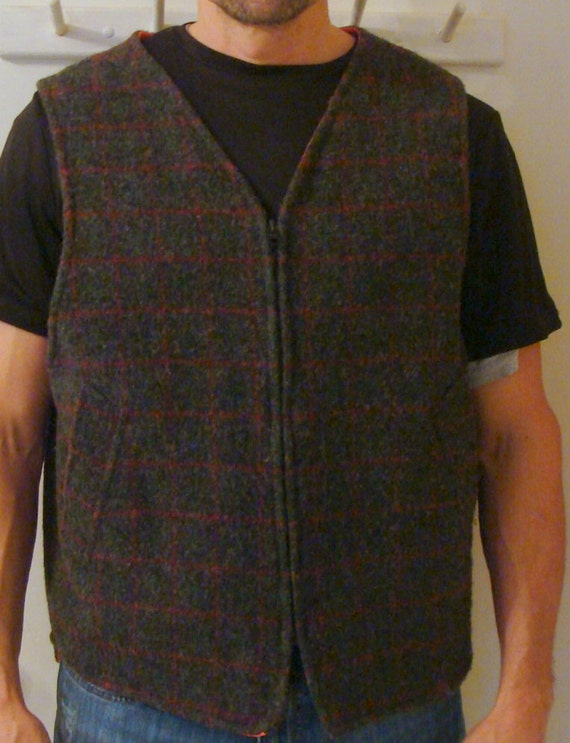 Vintage Johnson Woolen Mills Mens Xl Adirondack Plaid Wool