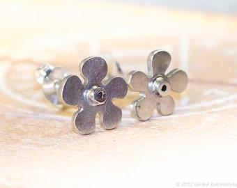 FLOWER Sterling Silver Stud Earrings