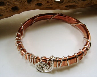 Copper Tubing and Sterling Silver Bangle (As seen at GBK's 2014 Golden Globes Celebrity Gift Lounge)