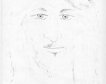 print of an original sketch by Brent Edward Crane