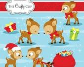 SALE! Reindeer Clip Art Set