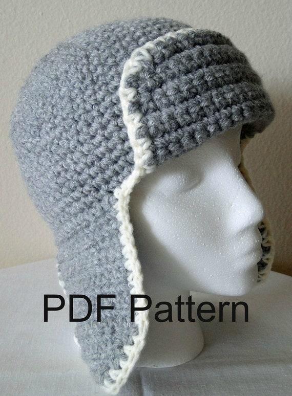 aviator bomber crochet hat pattern pdf