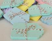 20 Pastel Green Tags Mint Green Paper Tag Gift Tags