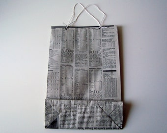 Recycled Newspaper Gift Bag - Large