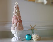 Sea Urchin Christmas Tree - 11 in tall - Candle Light Centerpiece - Beach Decor