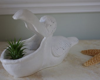 "Beach Decor Pelican Planter ""Petunia the Pelican"""
