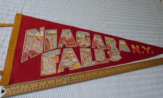 Niagara Falls Pennant NY 1960s Collectible Souvenir